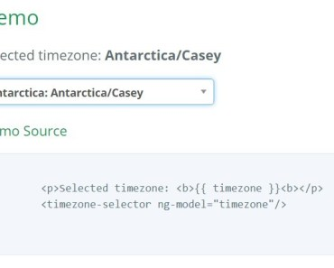 Timezone selector for Angular JS