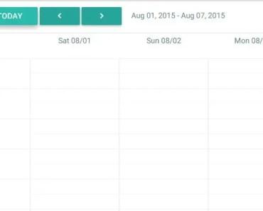 Material Design Angular Calendar Directive