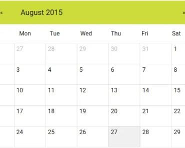 AngularJS Material Calendar Directive