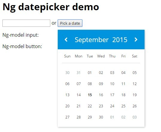 Lightweight Datepicker With Angular and Moment js | Angular Script