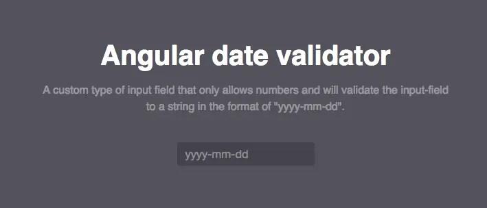 Angular Based Date Validator