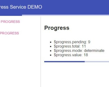 Angular Progress Service