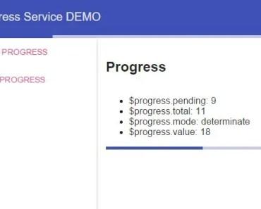 Angular Progress Service