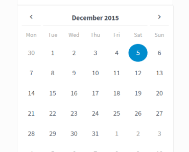 Elegant Customizable Date Picker In AngularJS