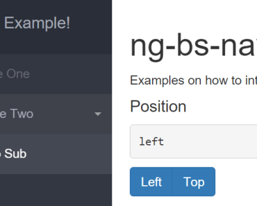 Ultimate Bootstrap Navbar With AngularJS