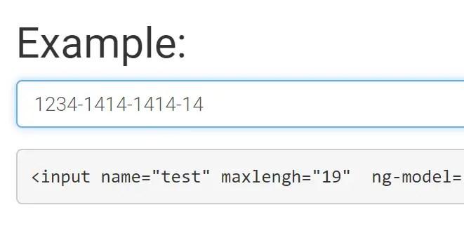 Simple Input Mask Directive For AngularJS | Angular Script