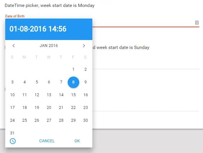 smDateTimeRangePicker Date Picker