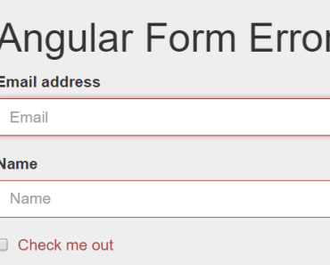 Angular Form Error