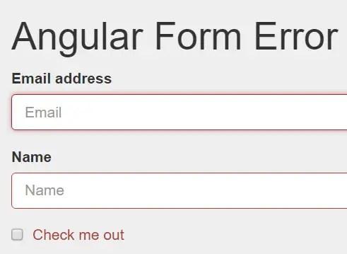Angular Form Error