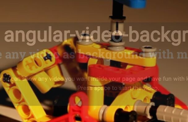 Lightweight Angular Video Background Module