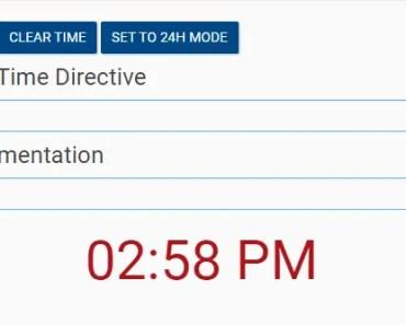 Small Angular Time Input Directive