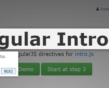AngularJS Directives For Intro.js Library