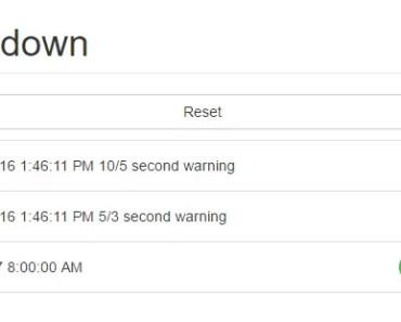 Angular Timestamp Countdown Directive