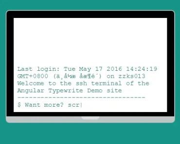 Angular Typewriter Typing Effect