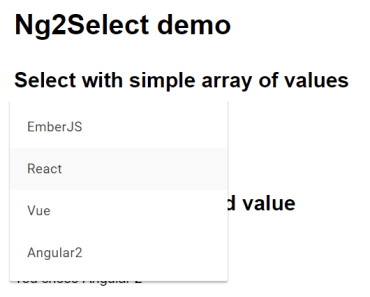 Angular2 Material Select Component