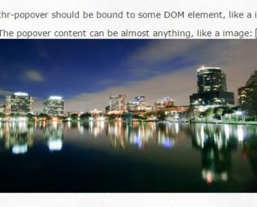 Simple AngularJS Directive To Create Popovers
