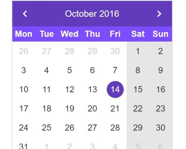 Angular2 Datepicker Component - datepickr