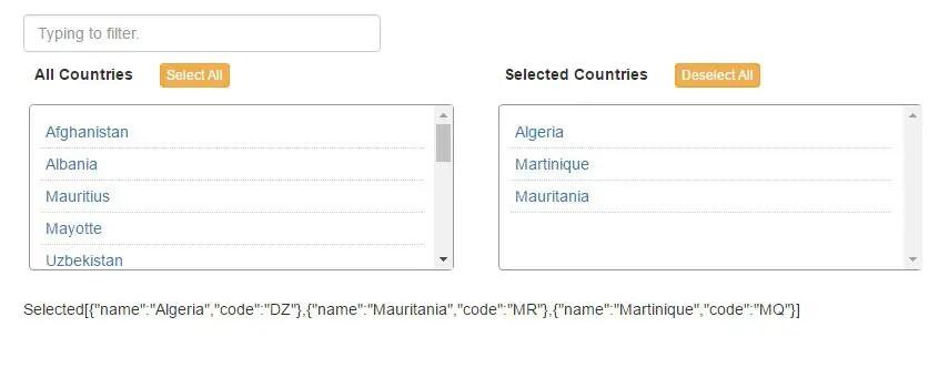 Multi Select Component For Angular