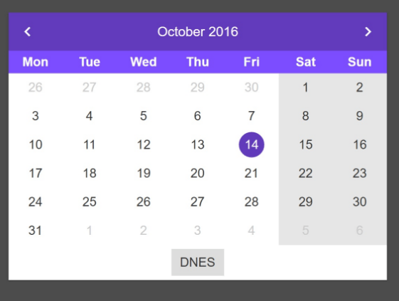 Datepicker Component For Angular 2