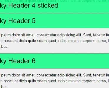 Position Sticky For Angular