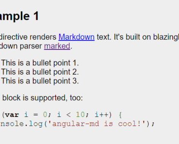 Angular Directive To Render Markdown Text