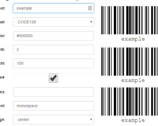 Js Barcode Library