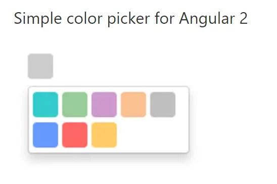 minimal color picker for angular 2  angular script