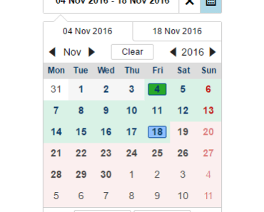 Reusable Angular 2 Date Picker