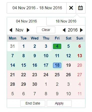 Angular 2 Date Range Picker - mydaterangepicker | Angular Script