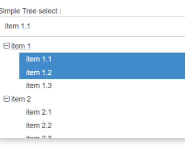 Angular 2 Select component With Tree Items