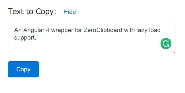 ZeroClipboard For Angular 4