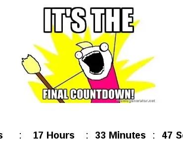 Customizable Angular 2 Date Countdown