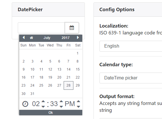 LC DatePicker Component For Angular 2+ | Angular Script