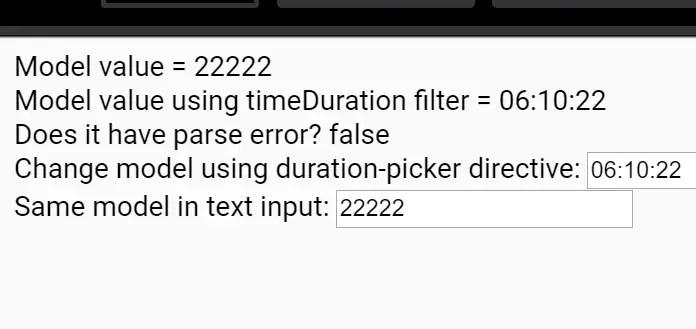 Angular Duration Picker Directive