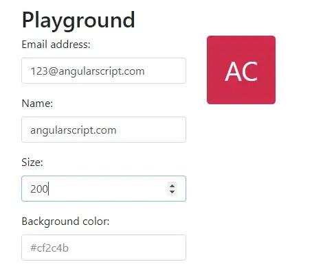 Letter Avatar Component For Angular 2+