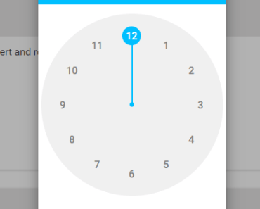 Handy Material Design Timepicker For Angular-min