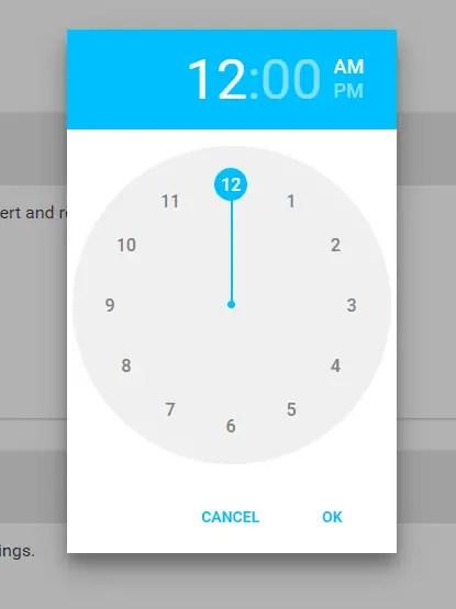 Handy Material Design Timepicker For Angular | Angular Script