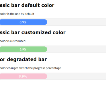 Progress Bar Component For Angular And Ionic