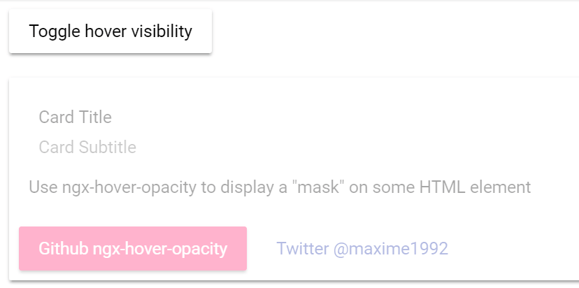 Nice Hover Effect On Element - ngx-hover-opacity