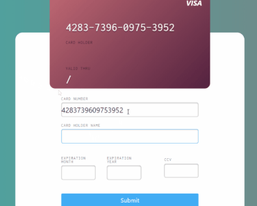 Responsive Credit Card Component For Angular