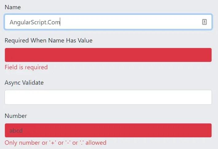 Data-driven Form Validators For Angular 2+ - ngx-validator