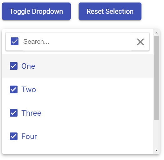 Material Design Select Autocomplete Component