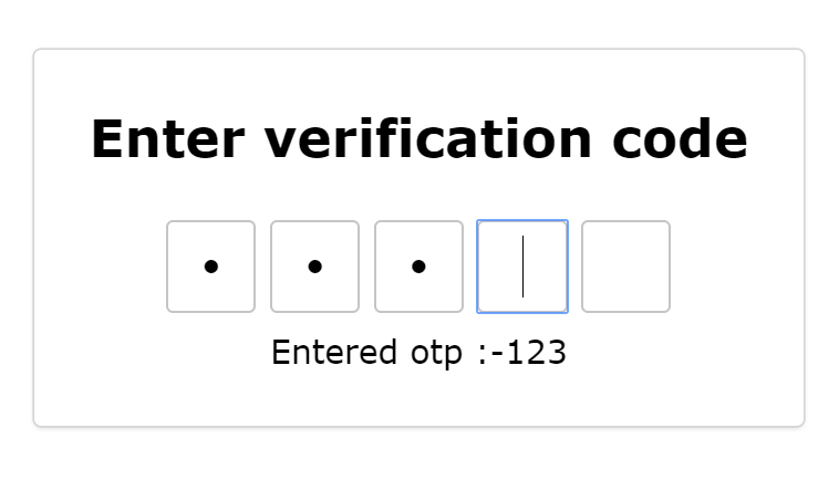 Customizable Password Input Component - ng-otp-input