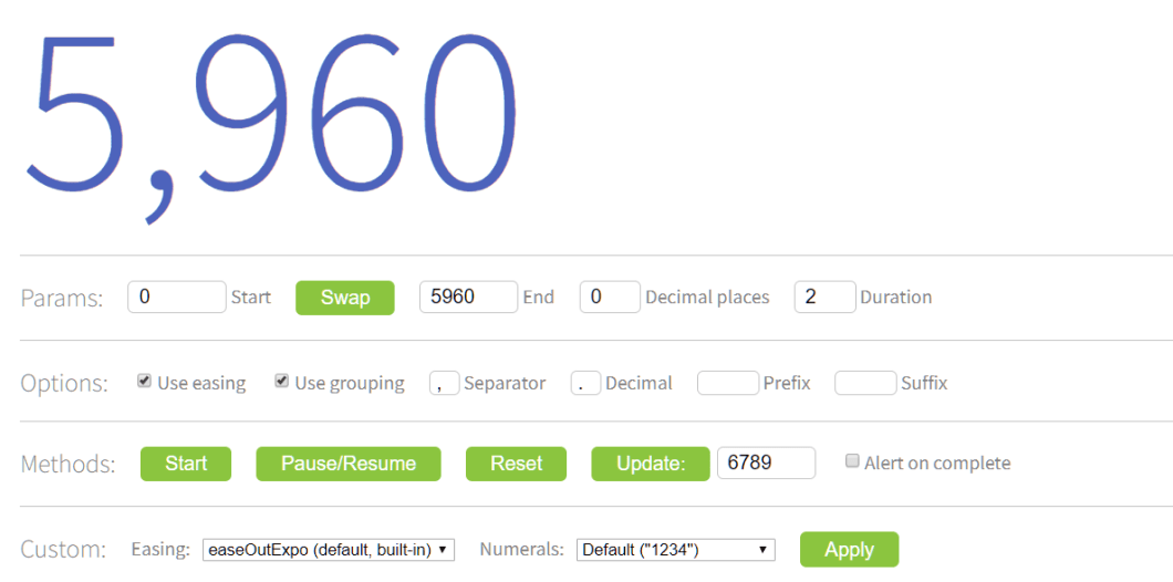 Animate Counting Of Numeric Value - ngx-countUp