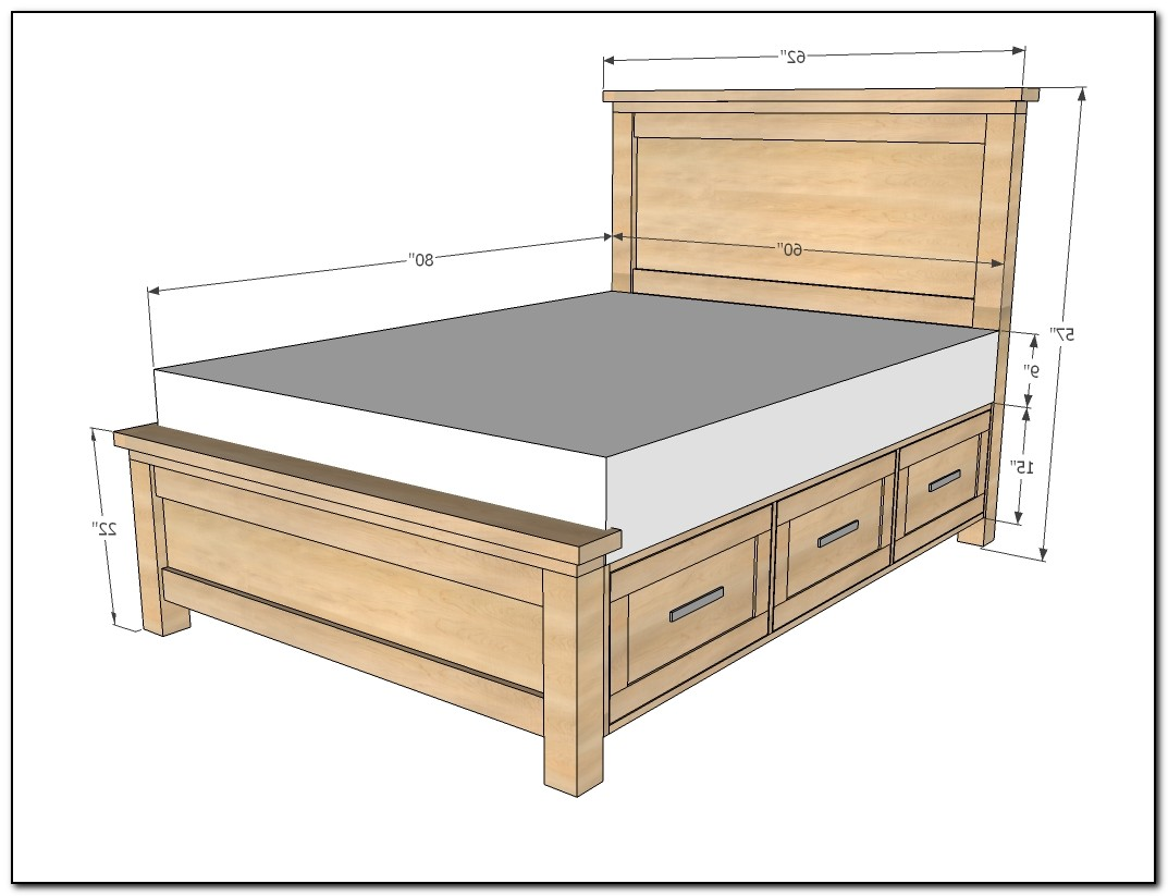 Queen Bed Frame With Drawers Plans