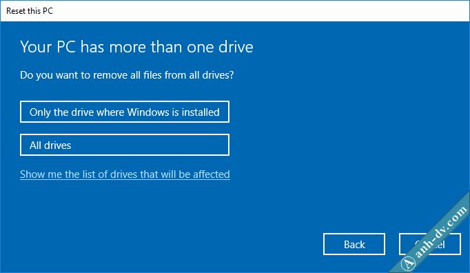Reset Windows 10 Remove Everything 1