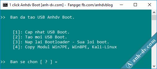 1 click Anhdv Boot 2018 - sửa lỗi 1