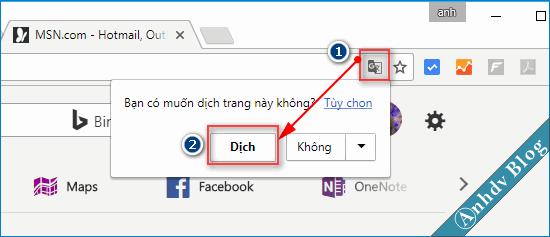 Dịch cả trang Web sang Tiếng Việt