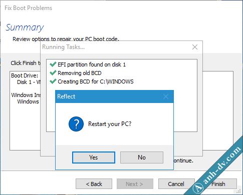 Sửa lỗi BCD, Winload.exe, Winload.efi, Recovery Fix Boot Macrium Reflect 4