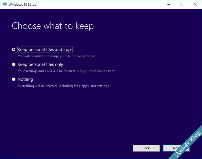 Nâng cấp lên Windows 10 Fall Creator 1709